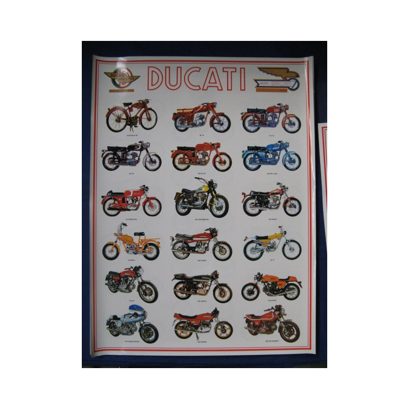 poster ducati 60 x 80 motos clasicas mg. Black Bedroom Furniture Sets. Home Design Ideas