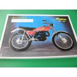 bultaco alpina 250 y 350 (modelos 212 y 213): despiece