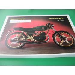 bultaco streaker 74 y 125 negra despiece