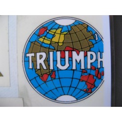 triumph, adhesivo emblema redondo (5,5 x 5,5)