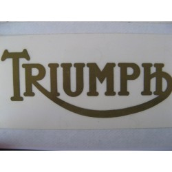 triumph, adhesivo emblema oro 13 x 5