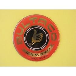 bultaco emblema en relieve en relieve rojo/oro