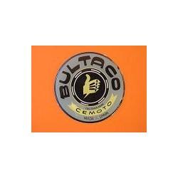 bultaco emblema en relieve gris con borde negro