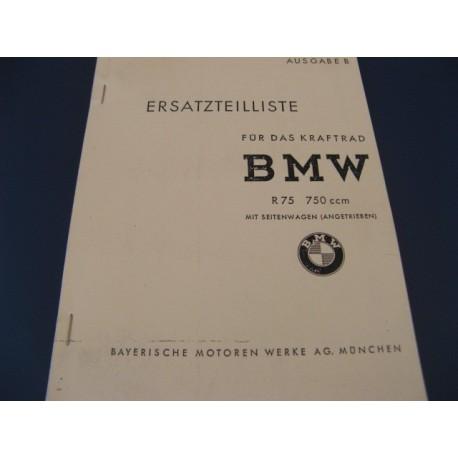 bmw R 75 guerra despiece