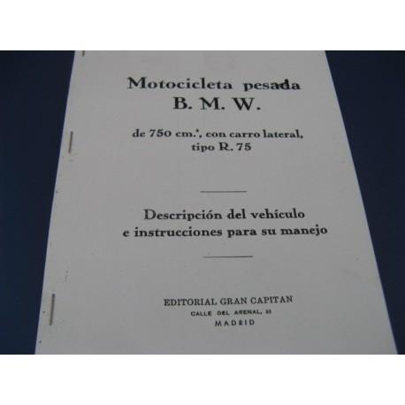 bmw R 75 guerra mantenimiento en español