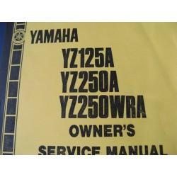 yamaha YZ 125 e YZ 250 reparaciones en ingles