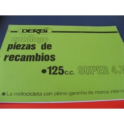 derbi 125 super de 4 marchas despiece