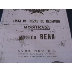 lube renn modificada despiece