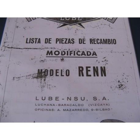 lube renn modificada despiece