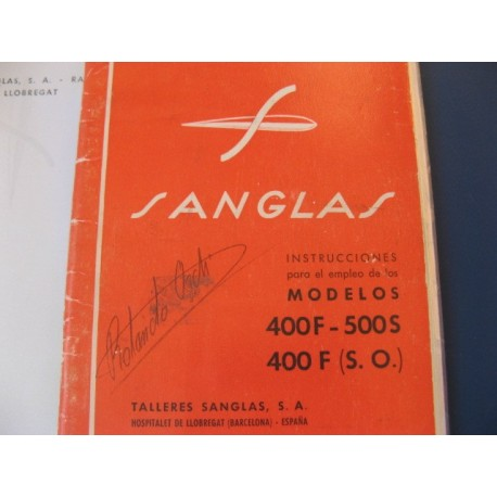 sanglas 400 F, 400 SO, 500 S mantenimiento