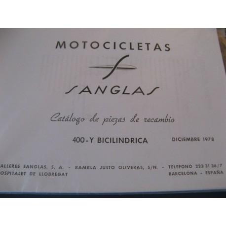 sanglas 400 Y bicilindrica despiece 1ª serie