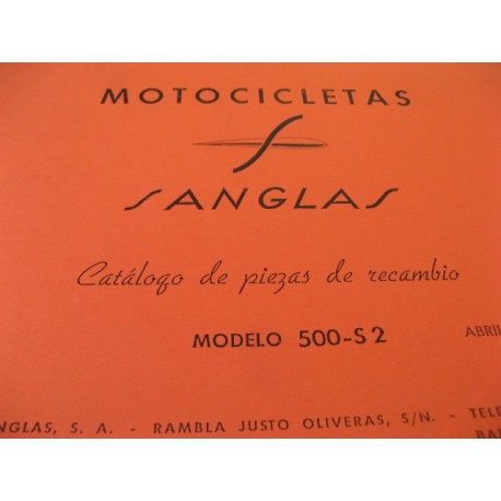 sanglas 500 S2 despiece