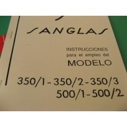 sanglas 350/1-2-3 y 500/1-2 mantenimiento