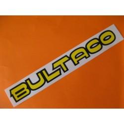 """bultaco adhesivo """"bultaco"""" del deposito amarillo y negro (22,5 x 2,5)"""