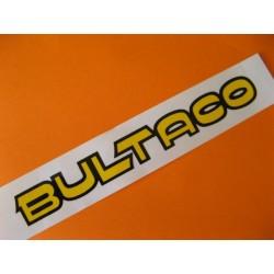 """bultaco adhesivo """"bultaco"""" del deposito amarillo y negro 19,5 x 2,5"""