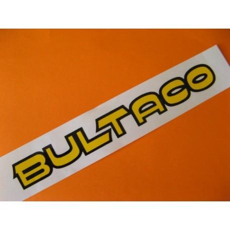 """bultaco adhesivo pequeño """"bultaco"""" del deposito amarillo y negro"""