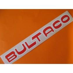 """bultaco adhesivo """"bultaco"""" del deposito rojo y blanco 24,5 x 3"""