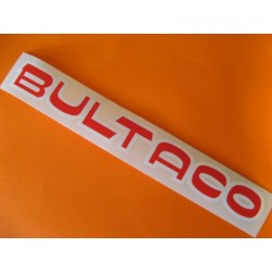"""bultaco adhesivo """"bultaco"""" del deposito rojo y blanco 24 x 2,5"""