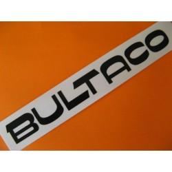 """bultaco adhesivo """"bultaco"""" del deposito en negro 19,5 x 2,5"""