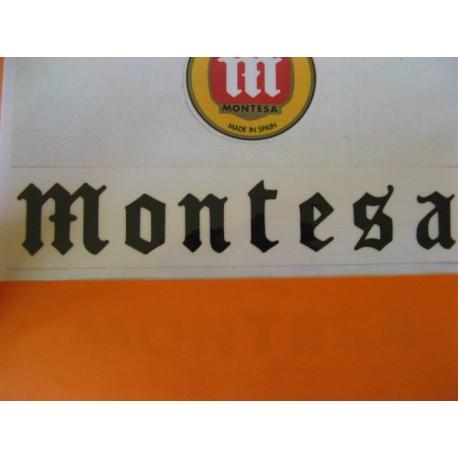 "montesa adhesivo ""montesa"" gotico en negro 19 x 3,5"