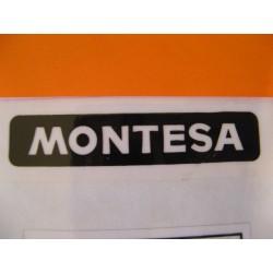 """montesa adhesivo """"montesa"""" en negro y blanco de 7 x 1,5"""