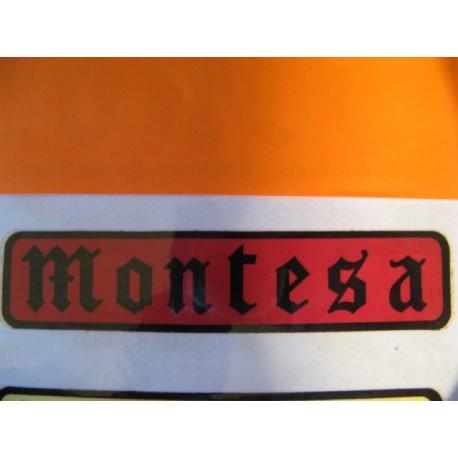 "montesa adhesivo ""montesa"" gotico negro y rojo 11 x 2,5"