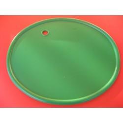 portanúmero verde con agujero pasacable
