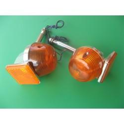 intermitente con soporte y catadrioptico naranja (delantero)