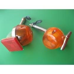 intermitente con soporte y catadrioptico rojo (trasero)