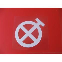 afrika korps adhesivo emblema de regimiento para bmw y otras mot