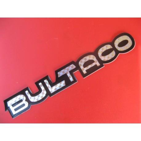 """bultaco adhesivo """"bultaco"""" metalizado y negro de 18 x 2,5"""