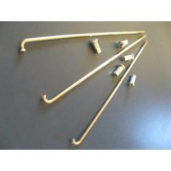 radios (6) de acero inox de 3,5 x 170 mm con cabecilla