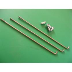 radios (6) de acero inox de 3,5 x 165 mm con cabecilla