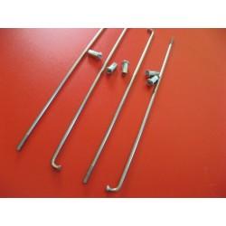radios (6) de acero inox de 3,5 x 175 mm con cabecilla