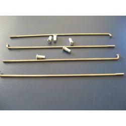 radios (6) de acero inox de 3,5 x 180 mm con cabecilla