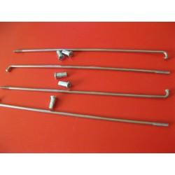 radios (6) de acero inox de 3,5 x 185 mm con cabecilla