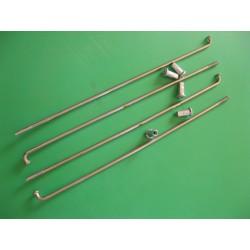 radios (6) de acero inox de 3,5 x 190 mm con cabecilla