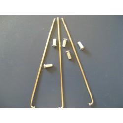 radios (6) de acero inox de 3,5 x 195 mm con cabecilla