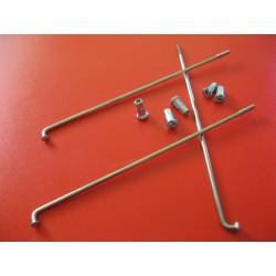 radios (6) de acero inox de 3,5 x 200 mm con cabecilla