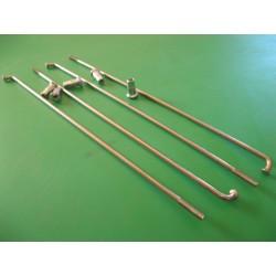 radios (6) de acero inox de 3,5 x 205 mm con cabecilla