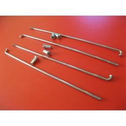 radios (6) de acero inox de 3,5 x 225 mm con cabecilla