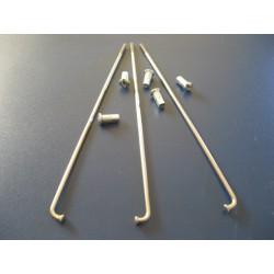 radios (6) de acero inox de 3,5 x 240 mm con cabecilla