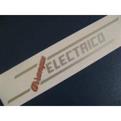 """sanglas 400 y 500 adhesivo de """"arranque electrico"""" en plata y ro"""
