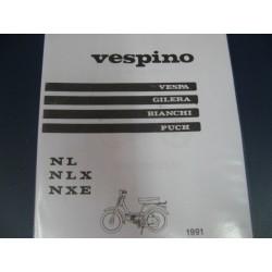 vespino NL NLX y NXE despiece