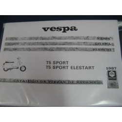 vespa T5 sport T5 elestart despìece