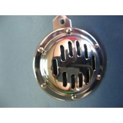 claxon de 12 V cromado diametro 100 mm