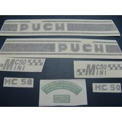 puch minicross 50 juego de adhesivos