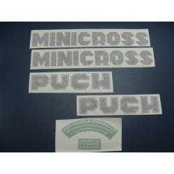 puch minicross 50 (cascahuevos) juego de adhesivos