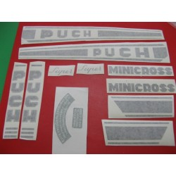 puch minicross super juego de adhesivos