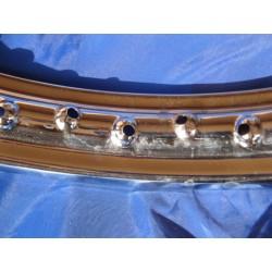 llanta de acero cromado de 1,60 x 19 de 36 radios